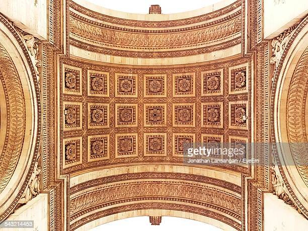 Directly Above Shot Of Architectural Detail In Arc De Triomphe