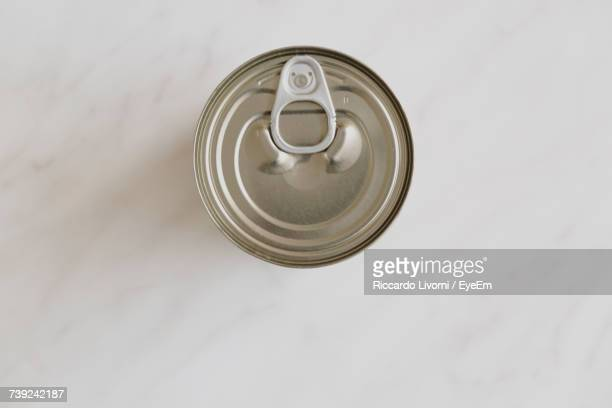 Directly Above Shot Of Drink Can On Table