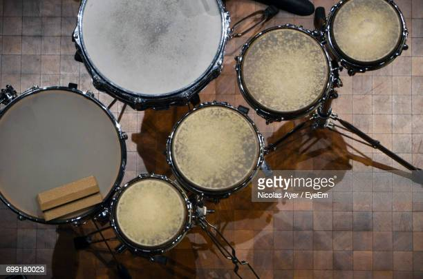 Directly Above Shot Of Drum Kit