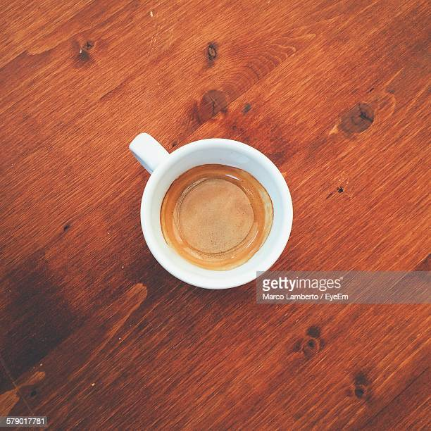 Directly Above Shot Of Espresso Served On Table