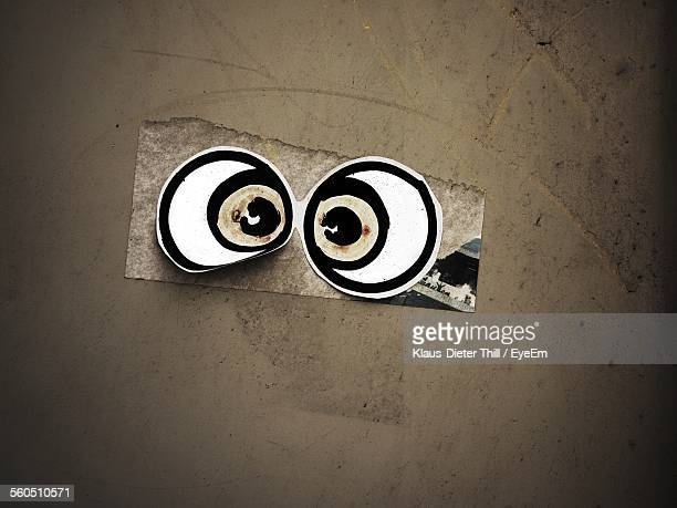 Directly Above Shot Of Hypnotized Cartoon Eyes