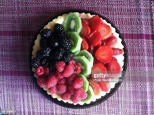 Directly Above Shot Of Mix Fruits Salad In Plate