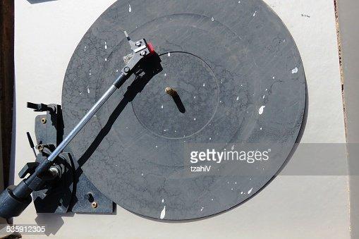 Directamente arriba de toma de record player : Foto de stock