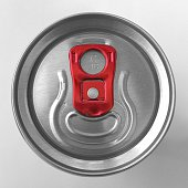 Directly Above Shot Of Tin Can Against White Background
