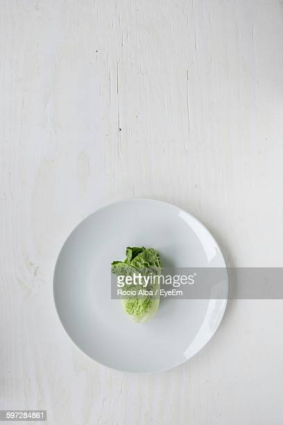 Directly Above Shot Of Vegetable In Plate On Table