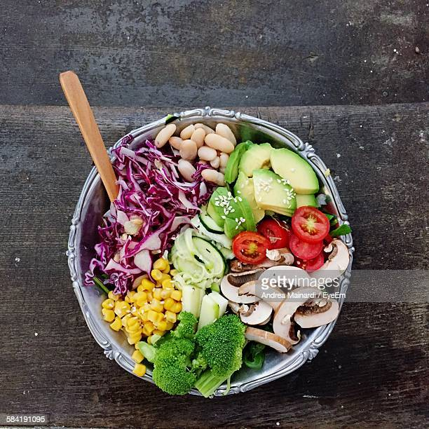 Directly Above Shot Of Vegetable Salad In Bowl