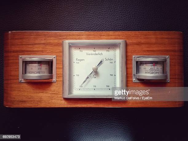 Directly Above Shot Of Vintage Weather Meter