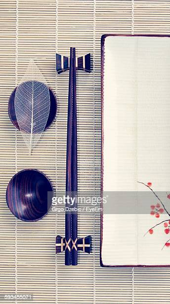 Directly Above View Of Japanese Place Setting