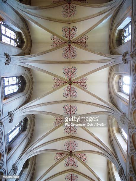 Directly Below View Of Ceiling At Wells Cathedral