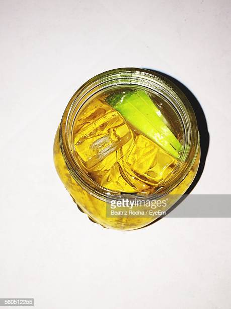 Directly Shot Of Jar Of Lemonade