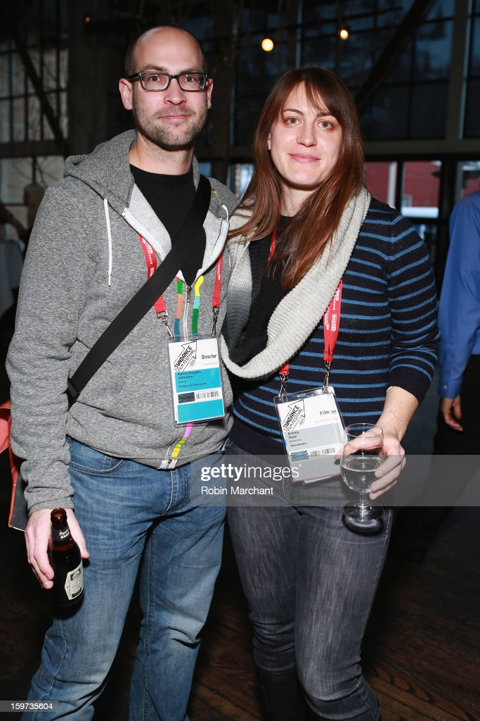 Director Aaron Douglas Johnston and Ashley Hasz attend the Time Warner Reception at Riverhorse Cafe during the 2013 Sundance Film Festival on January 19, 2013 in Park City, Utah.