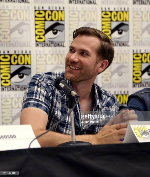 Director Aaron Moorhead attends the Bold Voice of Contemporary Horror Panel at the 2017 ComicCon International on July 22 2017 in San Diego California