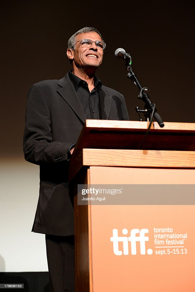 Director <a gi-track='captionPersonalityLinkClicked' href=/galleries/search?phrase=Abdellatif+Kechiche&family=editorial&specificpeople=2549398 ng-click='$event.stopPropagation()'>Abdellatif Kechiche</a> speaks onstage at the premiere of 'Blue Is The Warmest Color' at Winter Garden Theatre on September 5, 2013 in Toronto, Canada.