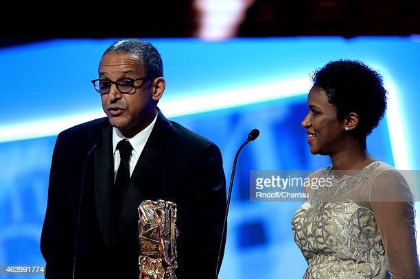 Director Abderrahmane Sissako and screenwriter Kessen Tall receive the award of Best Original Screenplay for 'Timbuktu' during the 40th Cesar Film...