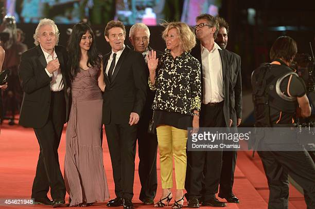 Director Abel Ferraraactress Giada Colagrande and actor Willem Dafoe with guests attend 'Pasolini' Premiere during the 71st Venice Film Festival at...