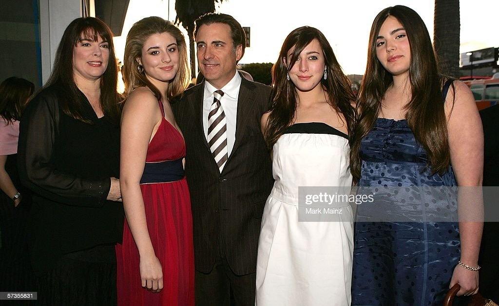 Director, actor Andy Garcia (C) with his wife Marivi Lorido Garcia (L) and family attend the premiere of 'The Lost City' at the Cinerama Dome April 17, 2006 in Hollywood, California.