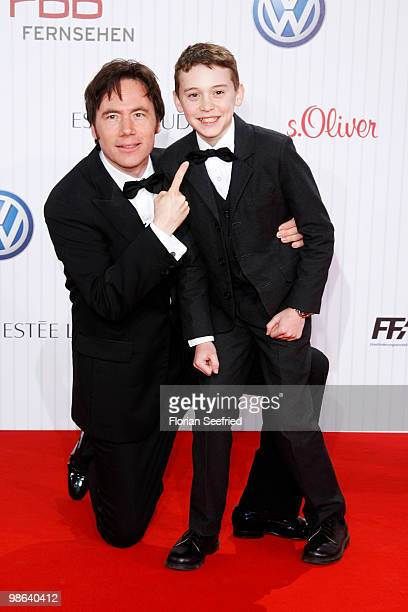 Director actor Michael 'Bully' Herbig and actor Jonas Haemmerle attend the German film award at Friedrichstadtpalast on April 23 2010 in Berlin...