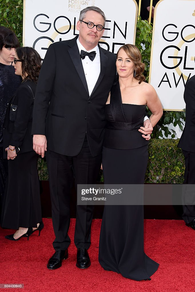 Director Adam McKay (L) and Shira Piven attend the 73rd Annual Golden Globe Awards held at the Beverly Hilton Hotel on January 10, 2016 in Beverly Hills, California.