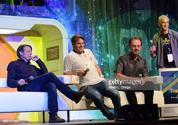 Director Adam Nimoy producer Rod Roddenberry and actor Christopher Doohan on day 2 of Creation Entertainment's Official Star Trek 50th Anniversary...