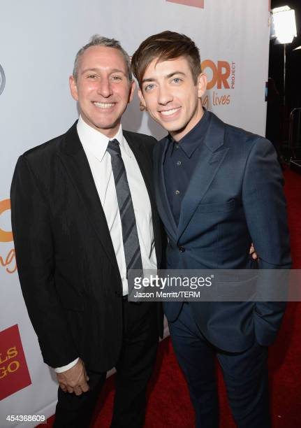 Director Adam Shankman and actor Kevin Michael McHale attends 'TrevorLIVE LA' honoring Jane Lynch and Toyota for the Trevor Project at Hollywood...
