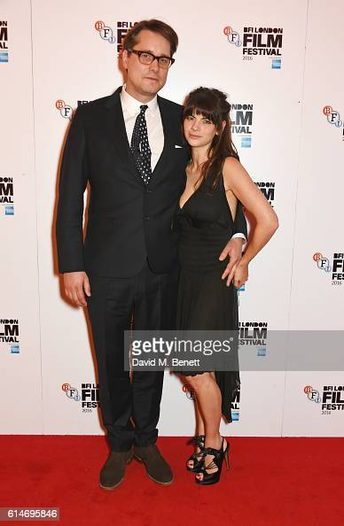 Director Adam Smith and Martha Freud attend the 'Trespass Against Us' screening during the 60th BFI London Film Festival at Vue West End on October...