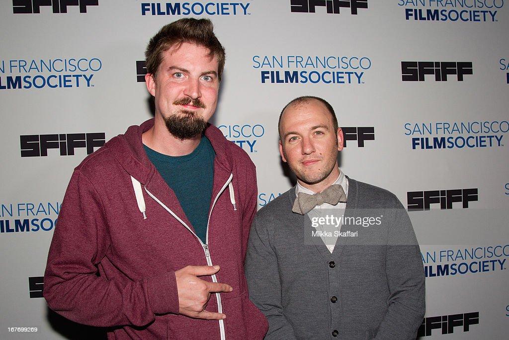 Director Adam Wingard and writer Simon Barrett arrives at 'You're Next' premiere at Sundance Kabuki Cinemas on April 27, 2013 in San Francisco, California.