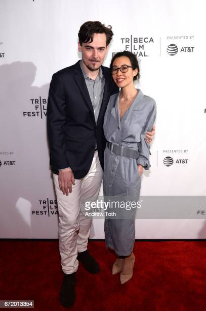 Director Adrian Buitenhuis and Dana Lee attend the 'I Am Heath Ledger' premiere during the 2017 Tribeca Film Festival at Spring Studios on April 23...