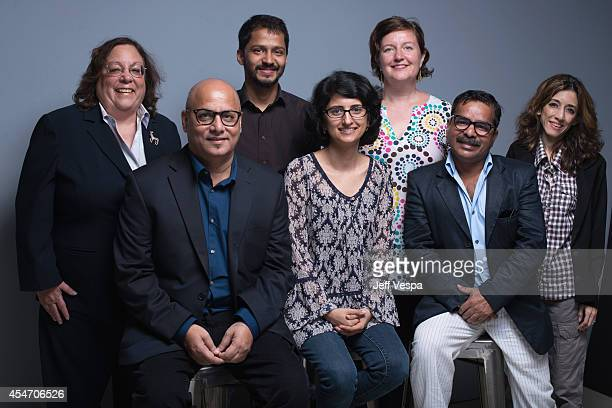 Director Afia Nathaniel and crew of 'Dukhtar' poses for a portrait during the 2014 Toronto International Film Festival on September 5 2014 in Toronto...