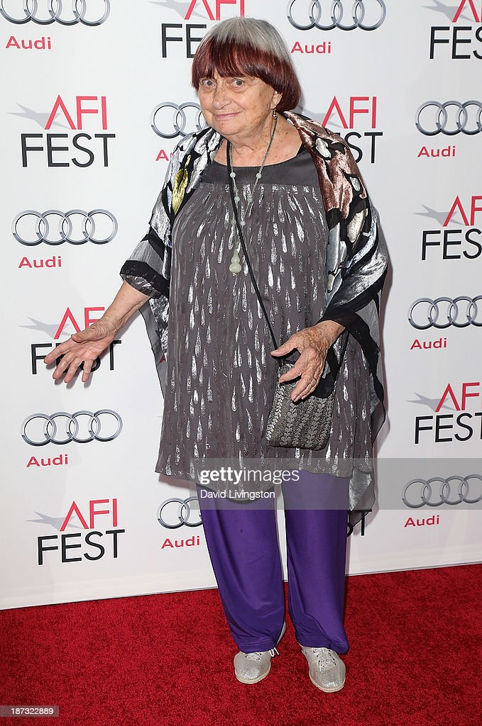 Director <a gi-track='captionPersonalityLinkClicked' href=/galleries/search?phrase=Agnes+Varda&family=editorial&specificpeople=234558 ng-click='$event.stopPropagation()'>Agnes Varda</a> attends the AFI FEST 2013 presented by Audi premiere of Walt Disney Pictures' 'Saving Mr. Banks' at TCL Chinese Theatre on November 7, 2013 in Hollywood, California.