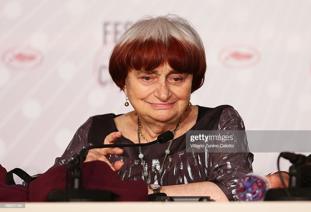 Director Agnes Varda attends the Palme D'Or Winners Press Conference during the 66th Annual Cannes Film Festival at the Palais des Festivals on May 26, 2013 in Cannes, France.