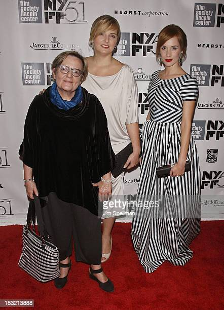 Director Agnieszka Holland and actress Tatiana Pauhofova attend the Centerpiece Gala Presentation Of 'The Secret Life Of Walter Mitty' during the...