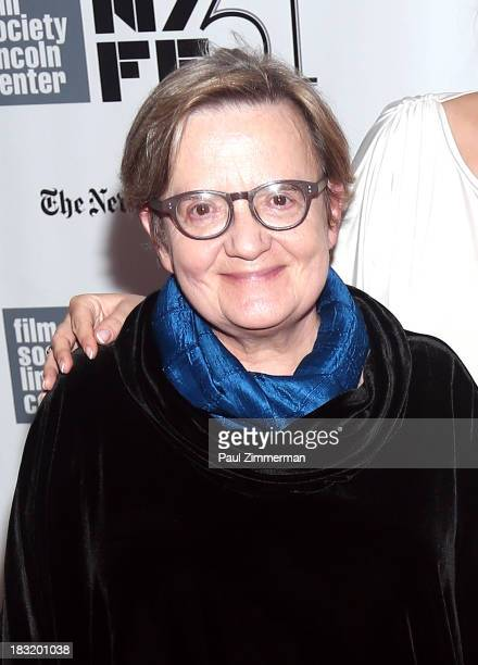Director Agnieszka Holland attends the Centerpiece Gala Presentation Of 'The Secret Life Of Walter Mitty' during the 51st New York Film Festival at...