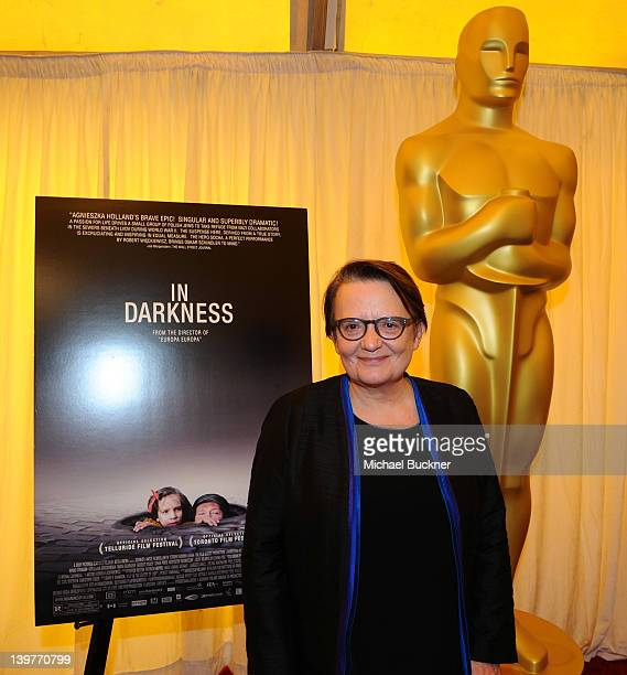 Director Agnieszka Holland attends the Foreign Language Film Award Nominee Press Conference for the 84th Annual Academy Awards at the Hollywood and...