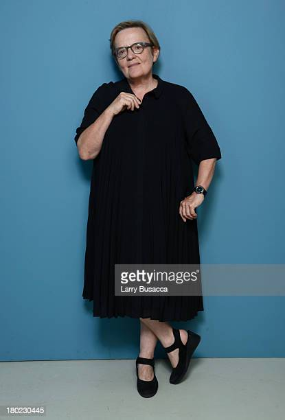 Director Agnieszka Holland of 'Burning Bush' poses at the Guess Portrait Studio during 2013 Toronto International Film Festival on September 8 2013...