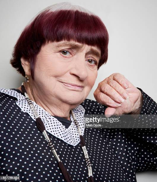 Director Agnès Varda from the film 'Faces Places' poses for a portrait at the 55th New York Film Festival on October 1 2017