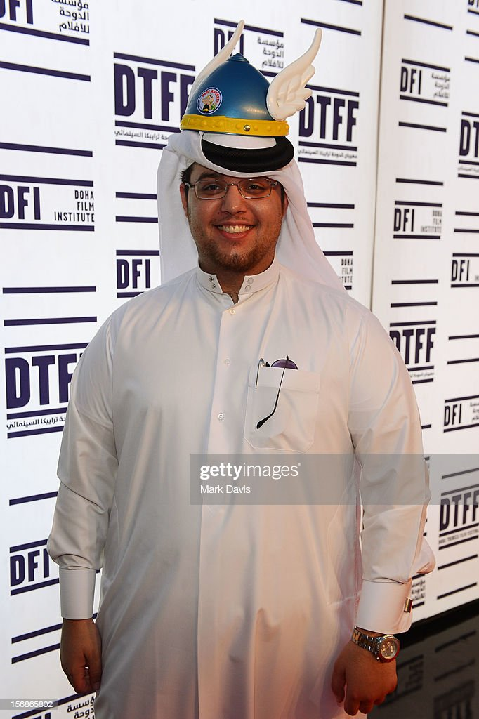 Director Ahmed Al Baker attends the 'Asterix and Obelix 3D' Premiere during the 2012 Doha Tribeca Film Festival at o n November 23, 2012 in Doha, Qatar.