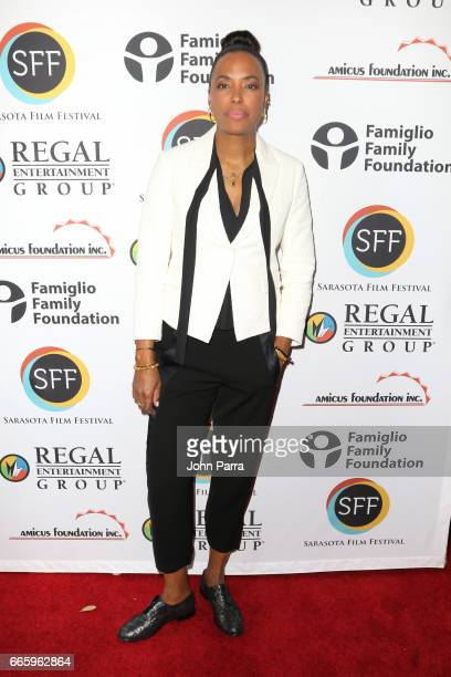 Director Aisha Tyler attends the 'Axis' screening during the 2017 Sarasota Film Festival on April 7 2017 in Sarasota Florida