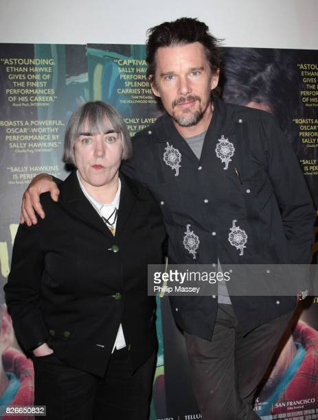 Director Aisling Walsh and Ethan Hawke attend a screening of 'Maudie' at The Lighthouse Cinema on August 5 2017 in Dublin Ireland