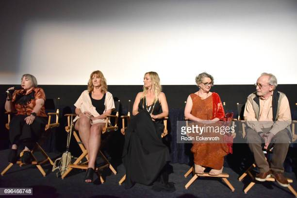 Director Aisling Walsh producer Mary Young Leckie actors Kari Matchett and Gabrielle Rose and producer Bob Cooper speak onstage at the screening of...