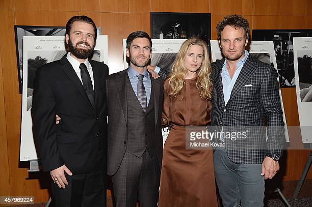 Director AJ Edwards and actors Wes Bentley Brit Marling and Jason Clarke attend the Los Angeles Premiere of Amplify's 'THE BETTER ANGELS' at DGA...