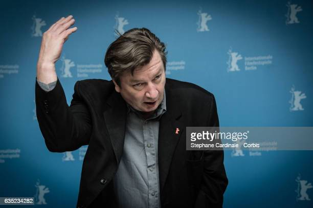 Director Aki Kaurismaki attends the 'The Other Side of Hope' photo call during the 67th Berlinale International Film Festival Berlin at Grand Hyatt...