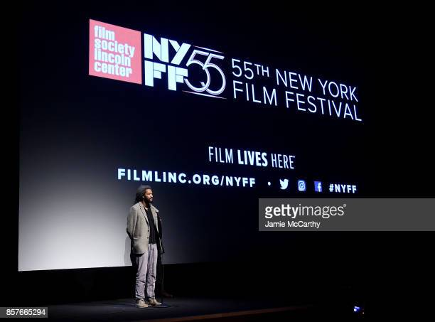 Director Alain Gomis attends the 55th New York Film Festival 'Felicite'at Alice Tully Hall on October 4 2017 in New York City