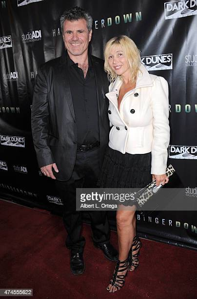 Director Alec Gillis and Nadeea arrive for the Premiere Of 'Harbinger Down' held at the Egyptian Theatre on April 28 2015 in Hollywood California