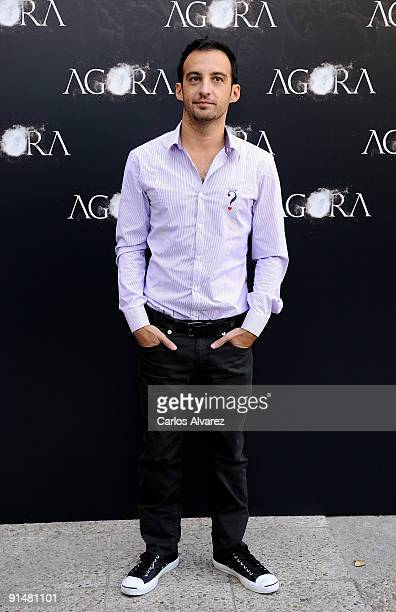 Director Alejandro Amenabar attends 'Agora' photocall at Biblioteca Nacional on October 6 2009 in Madrid Spain