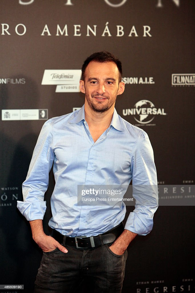 Director Alejandro Amenabar attends 'Regression' photocall at Villamagna hotel on August 27, 2015 in Madrid, Spain.