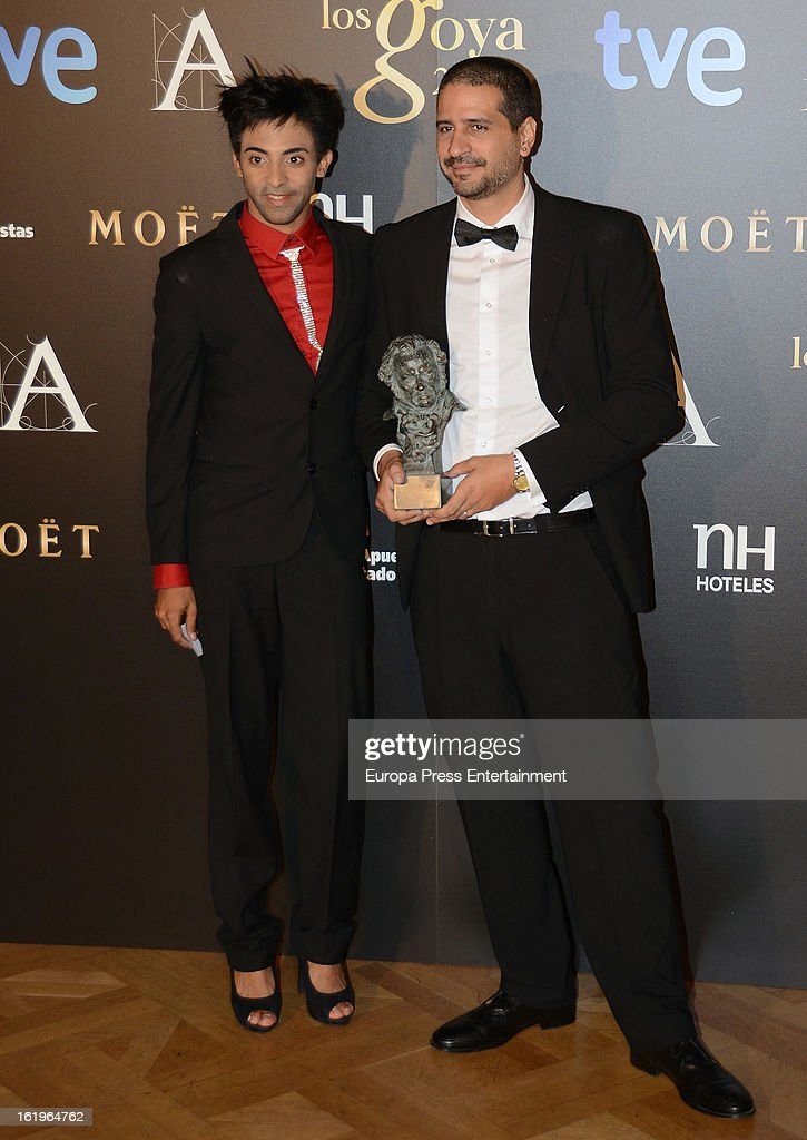 Director Alejandro Brugues (R) attends the official 'Goya Cinema Awards After Party' 2013 at Casino de Madrid on February 17, 2013 in Madrid, Spain.