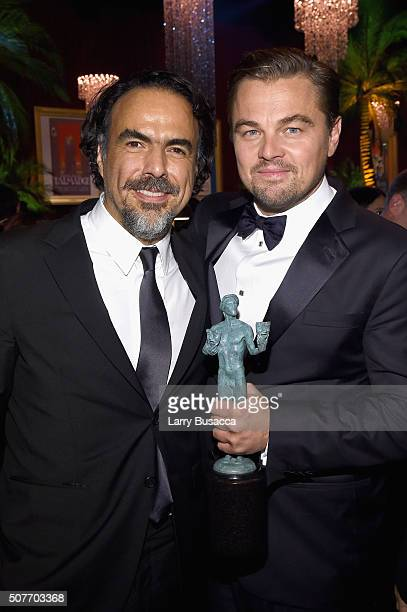 Director Alejandro G Iñárritu and actor Leonardo DiCaprio attend People and EIF's Annual Screen Actors Guild Awards Gala at The Shrine Auditorium on...