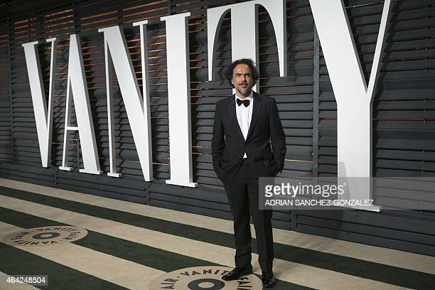 Director Alejandro G Iñárritu arrives to the 2015 Vanity Fair Oscar Party February 22 2015 in Beverly Hills California AFP PHOTO/ADRIAN...