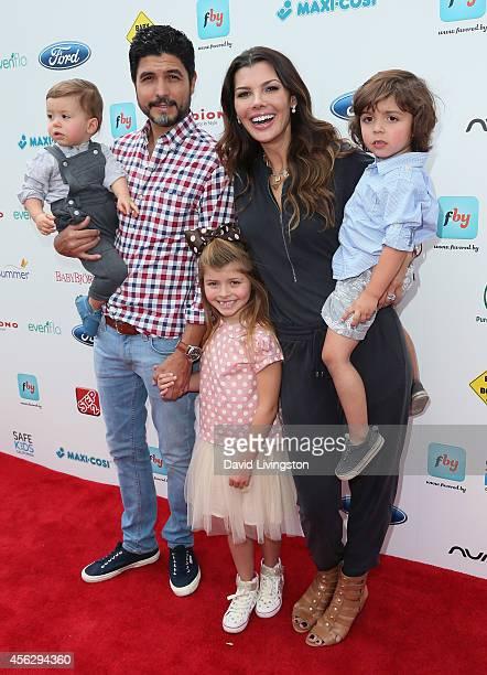 Director Alejandro Gomez Monteverde model Ali Landry and children Valentin Francesco Monteverde Estela Ines Monteverde and Marcelo Alejandro...
