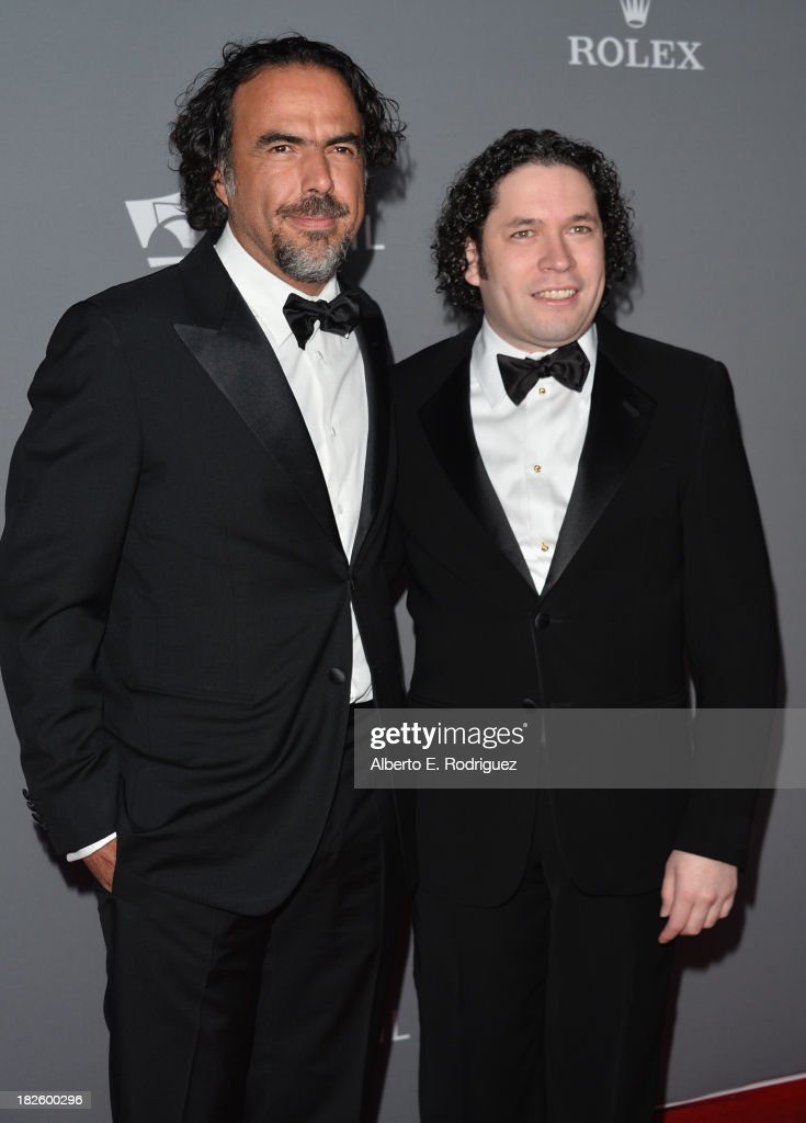 Director Alejandro Gonzalez Inarritu and conductor Gustavo Dudamel attend the Walt Disney Concet Hall's 10th Anniversary Gala at the Walt Disney Concert Hall on September 30, 2013 in Los Angeles, California.